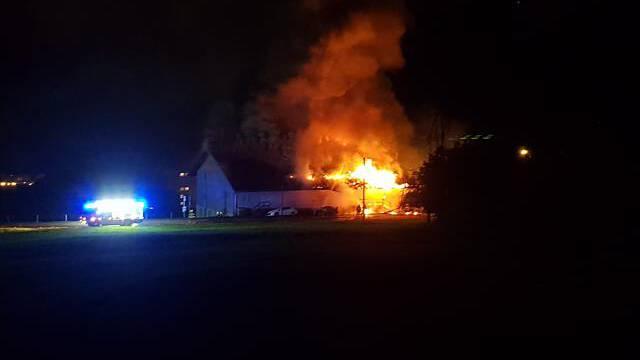 Brand in Lagerhalle bei Seewen