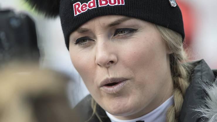 Lindsey Vonn war im ersten Abfahrtstraining im Olympia-Gelände Schnellste