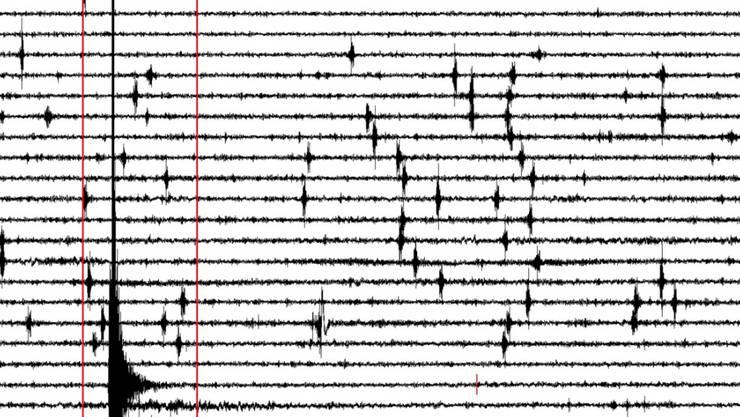 Ein 24-Stunden Seismogramm zeigt ein Erdbeben an. (Symbolbild)