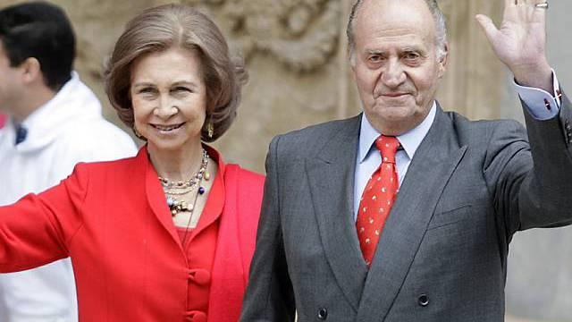 König Juan Carlos mit Gattin Sofia