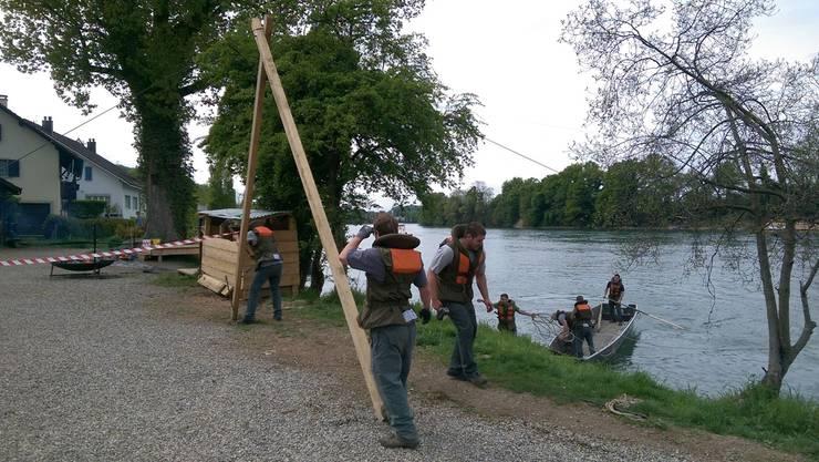 Mumpfer Pontoniere fahren die Wettkampfstrecke ab.zvg