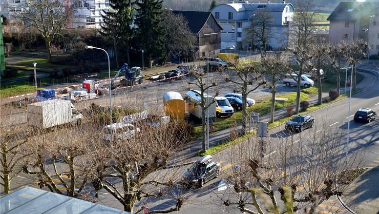 Auf dem Chilbiplatz will die Gemeinde mit Fremdkapital eine neue Wohnsiedlung erstellen. fni/zvg