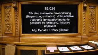 Die Begrenzungsinitiative der SVP steht heute im Ständerat auf der Traktandenliste. Eine ablehnende Abstimmungsempfehlung ist mehr als wahrscheinlich. (Archivbild)