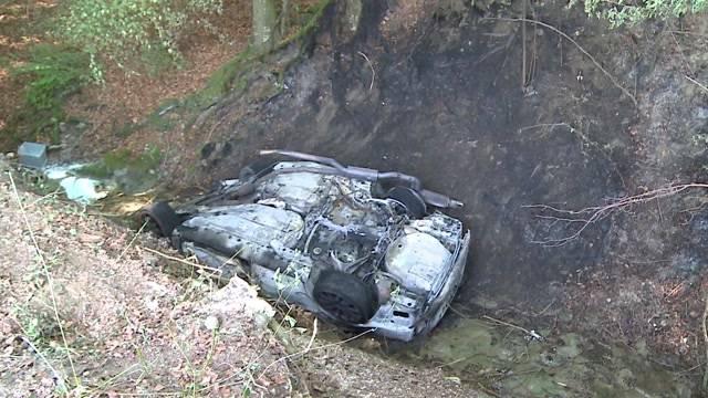 Hallwilersee: Brennendes Auto macht sich selbständig