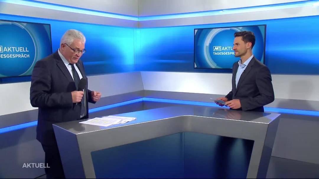 Der Aargauer Regierungsratssprecher Peter Buri im Gespräch bei Tele M1 zum Disziplinarverfahren gegen den Leitenden Aargauer Staatsanwalt Simon Burger