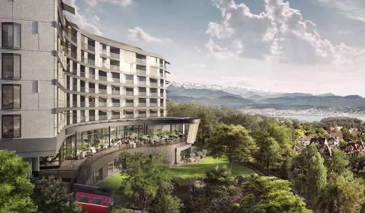 So soll das Hotel Dolder Waldhaus ab 2019 aussehen.