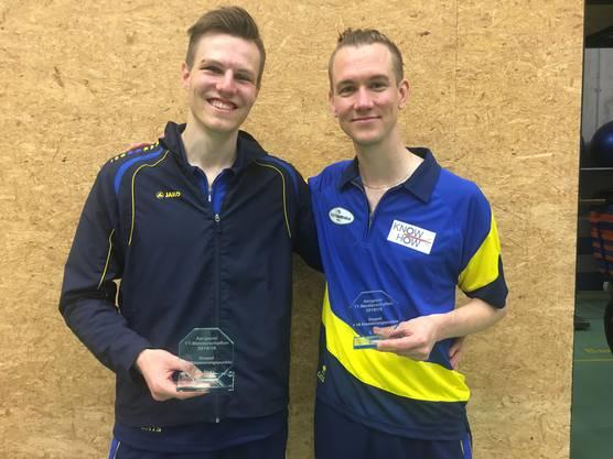 Sieger Kategorie Herren Doppel min. 19 Klassierungspunkte: Marcel Vogelsang und Matthias Meier