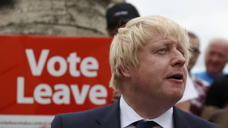 Boris Johnson an einer Veranstaltung von Brexit-Befürwortern