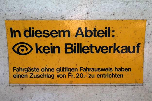 Alte Schweizer SBB Wagen sind auch hier im Einsatz