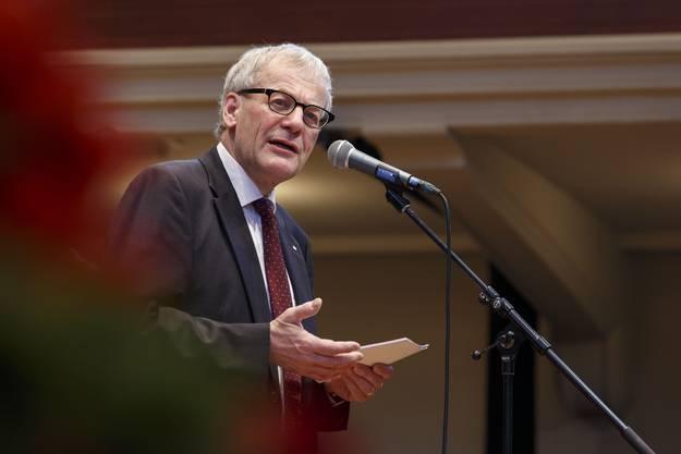 Stadtpräsident Kurt Fluri bei seiner Neujahrsansprache