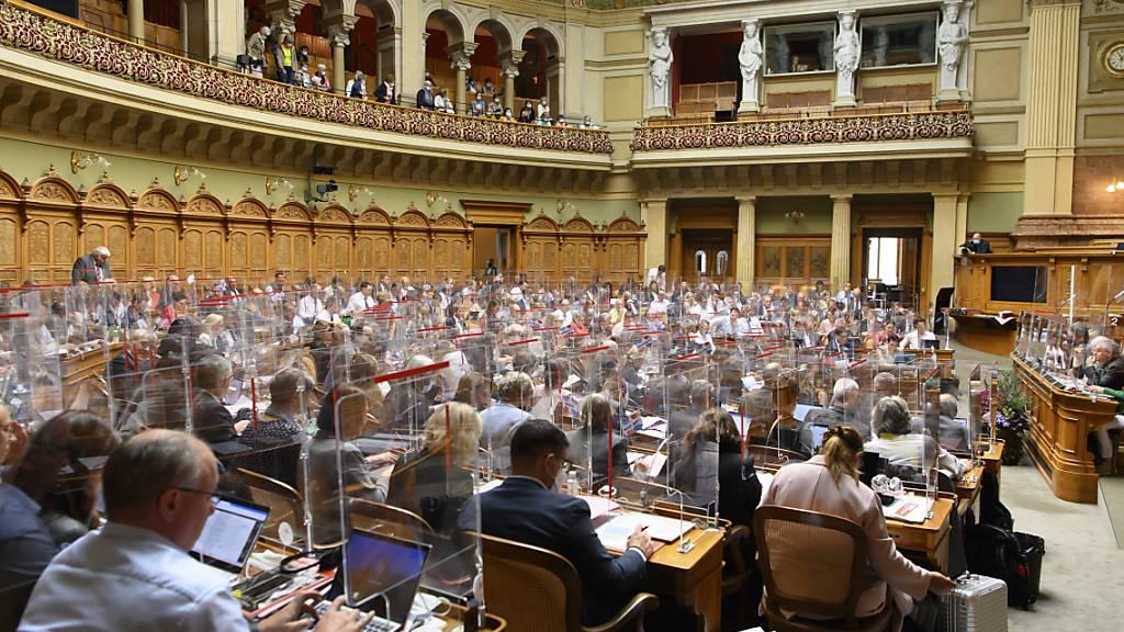 Blick in den Nationalratssaal. (Archiv)