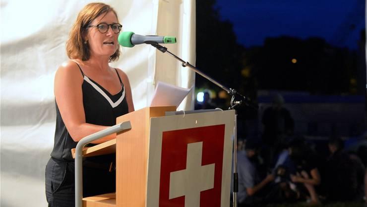 Rednerin Franziska Roth warnte davor, sich von Vorurteilen leiten zu lassen.Bild: Hans Peter Schläfli