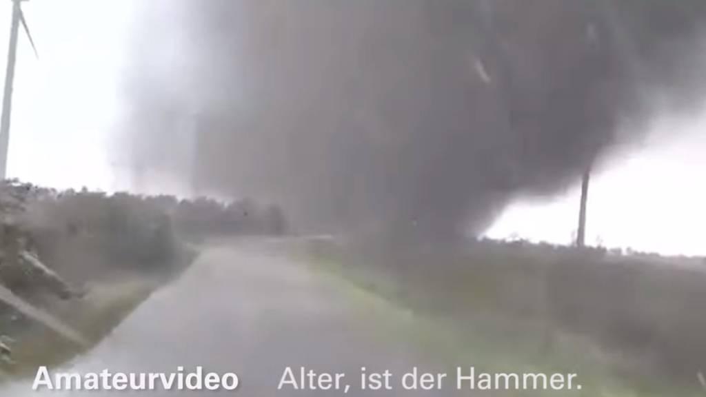 In Schleswig-Holstein gab es in den letzten Tagen mehrere nicht ganz ungefährliche Tornados.