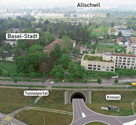 In Basel-West soll der Tunnel in die A3 münden.
