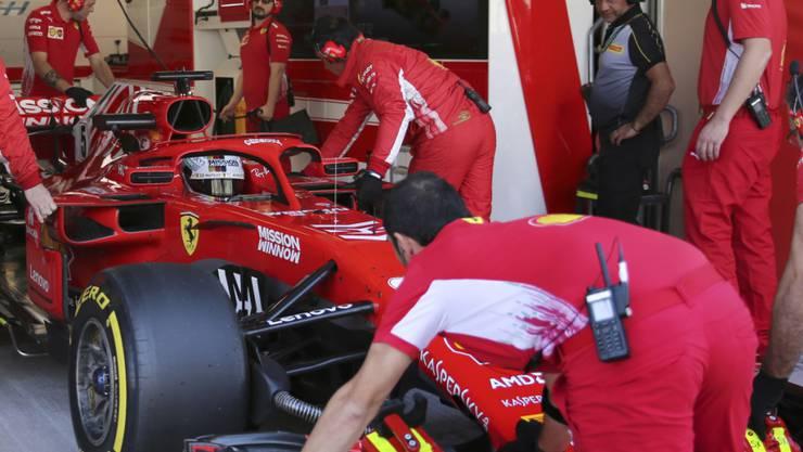 Bereits nach zwei Stunden hatte Charles Leclerc die Tagesbestzeit von Ferrari-Teamkollege Sebastian Vettel am Dienstag verbessert