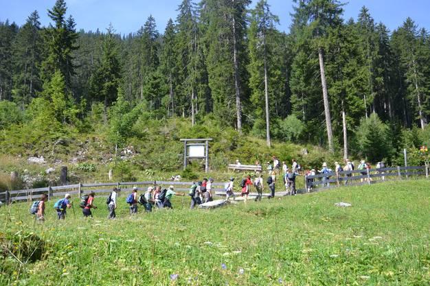 Die Teilnehmer der dritten Route