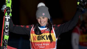 Siegerbilder wie hier 2016 in Arosa dürfte es für die schwer am Knie verletzte Kanadierin Marielle Thompson in dieser Saison eher weniger geben