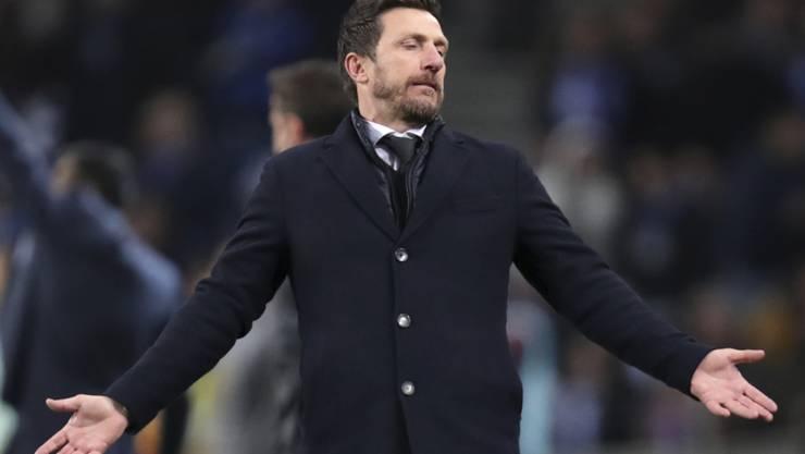 Eusebio di Francesco schaffte es mit der AS Roma nicht, die Leistungen des Vorjahres in der Champions League zu wiederholen
