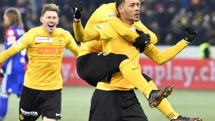 Der Franzose Guillaume Hoarau schoss das wegweisende 1:0 für die Young Boys