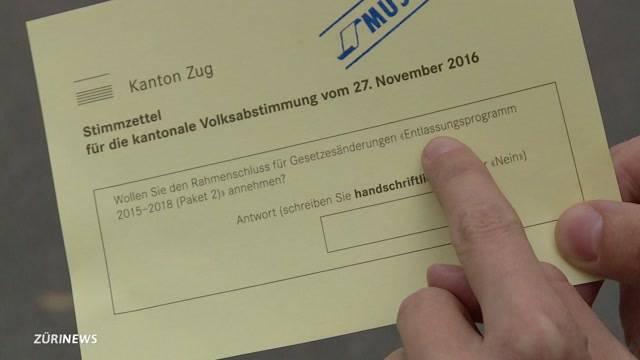 Schreibfehler sabotieren Abstimmung in Zug
