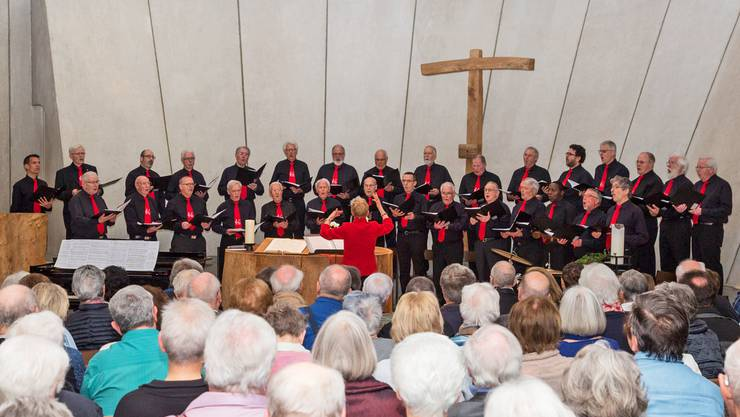 Männerchor Chutz beim Frühlingskonzert am 12. März in der Reformierten Kirche in Langendorf