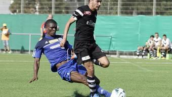 Kann Concordia mit Oxence Mbani Madzou (hinten) den Stars mit Mickael Feghoul ein Bein stellen?