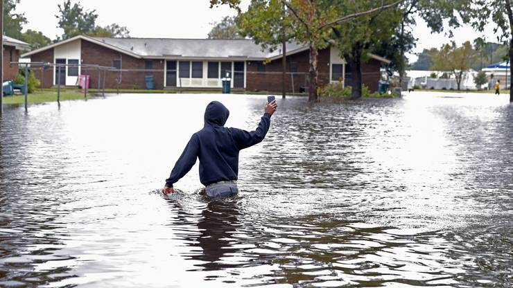 Land unter auch in Marion, South Carolina.