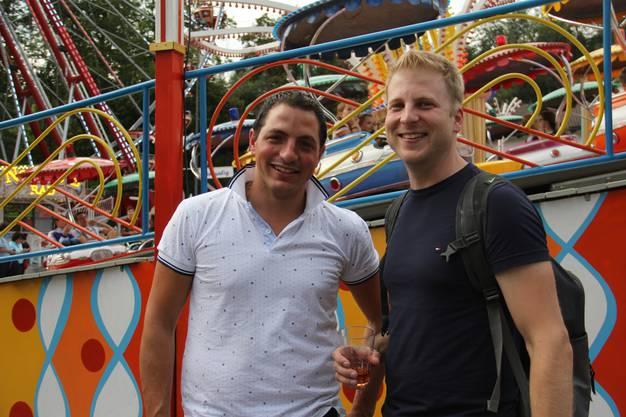 Mario Restaino, 31, aus Othmarsingen (l.) und Michael Frei, 34, aus Windisch