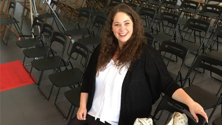 «Plus Size»-Model und Finalistin von «Miss Plus Size» Schweiz 2016, Jana Pfister aus Holziken, ist bereit für die Wahl.