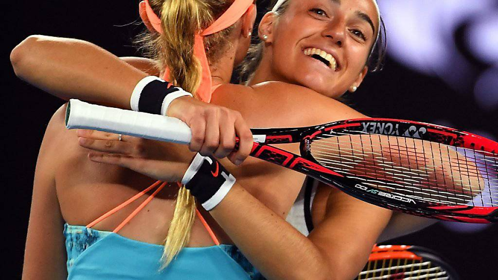 Ausgejubelt: Caroline Garcia Re.) will nicht mehr mit Kristina Mladenovic Doppel spielen