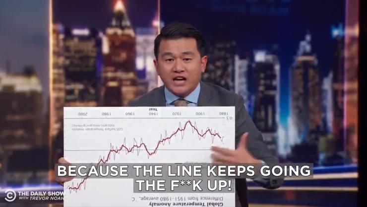 US-Comedian Ronny Chiengs Reaktion auf Trumps Klima-Tweet.