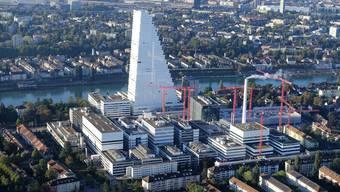 Die Arbeitsplätze verlagert die Roche nach Basel – nicht in den Turm, sondern an die Gartenstrasse.