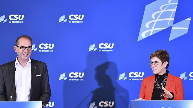 Für CSU-Landesgruppenchef Alexander Dobrindt und die neue CDU-Chefin Annegret Kramp-Karrenbauer ist die Union am stärksten, wenn CDU und CSU betonen, was sie im Konsens verbindet, und wenn sie die jeweiligen Eigenarten akzeptieren.