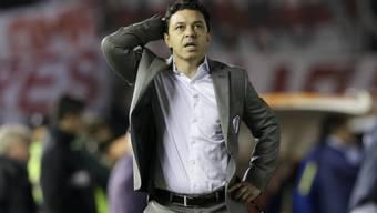 Kann den Spielabbruch nicht fassen: Rivers Coach Marcelo Gallardo