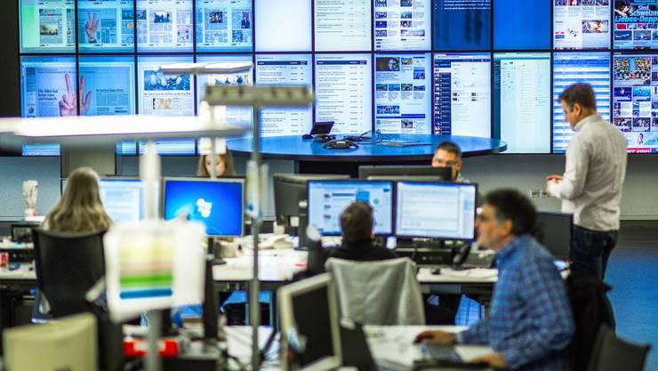 Der Newsroom am Standort Aarau.