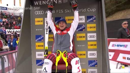 Überraschung in Wengen: Matthias Meyer holt seinen ersten Kombi-Sieg