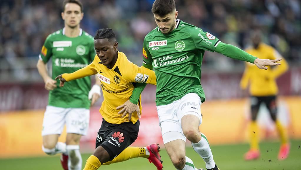 Im Titelkampf zwischen St. Gallen und YB kann sich keiner durchsetzen.