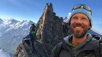 Im letzten Sommer war Tom Rüeger mit Mitgliedern der Brugger SAC-Sektion in den Walliser Alpen unterwegs.