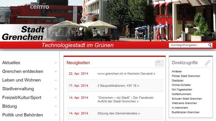 Der neue Onlineauftritt der Stadt.