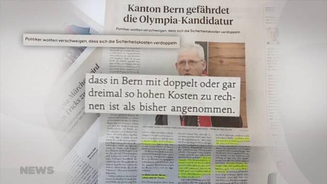 Sion 2026: Berner Regierungsrat reicht Strafanzeige ein