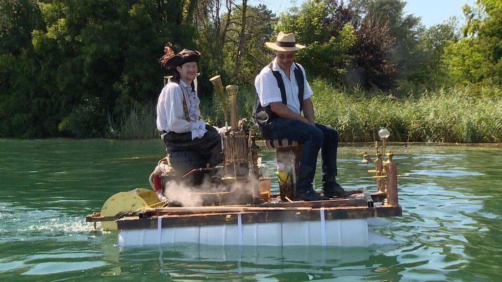 Mini-Dampfschiff: Aussergewöhnliche Jungfernfahrt auf dem Zürichsee