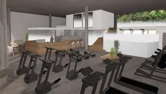 Medizinisches und therapeutisches Angebot auf rund 400 Quadratmetern: Wie auf dieser Visualisierung soll sich das neue Zentrum für Rehabilitation präsentieren.