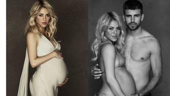 Shakira und Piqué zeigen Baby-Bauch für guten Zweck.