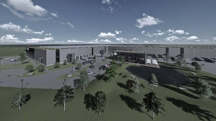 Damit so ein Service- und Dienstleistungszentrum entsteht, muss viel gebaut werden.
