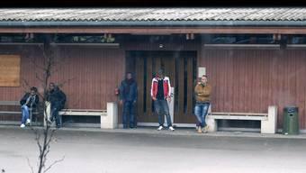 Asylbewerber in der Unterkunft in Bremgarten.