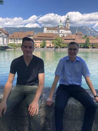 Links Raphael Ochsenbein, Rechts Cedric Glutz