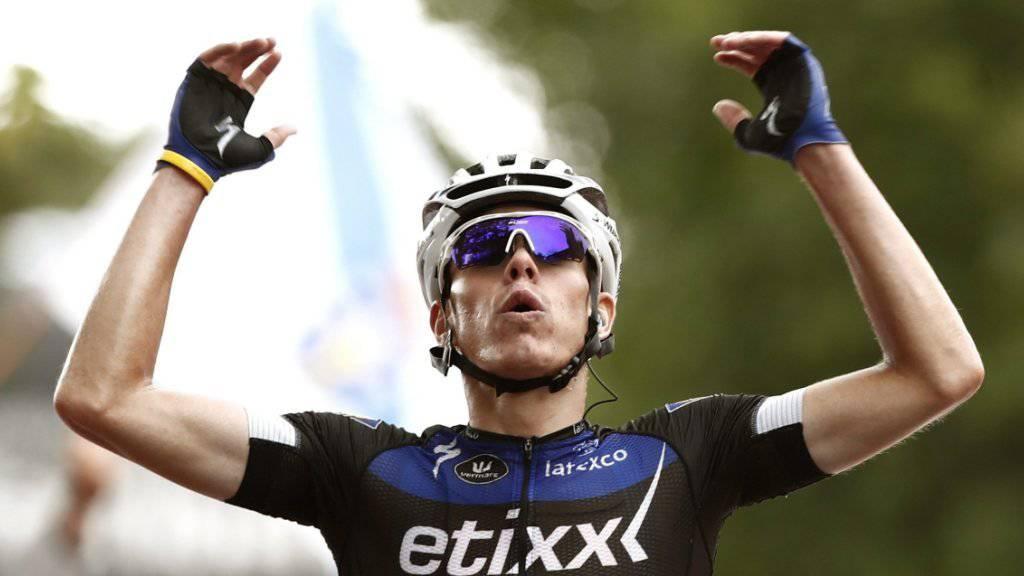 Der Spanier David de la Cruz feierte seinen Sieg in der 9. Etappe der Vuelta