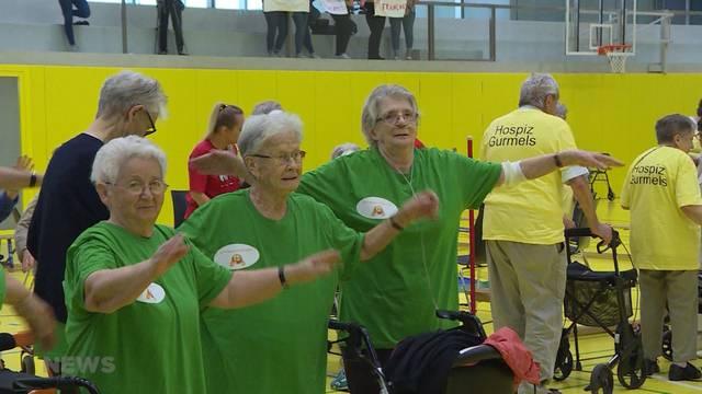Schweisstreibende Altersheim-Olympiade in Gurmels