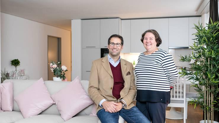 Ein Viertel der Tertianum-Wohnungen sind bereits reserviert, freuen sich Ursula Brönnimann und Alain Gozzer.