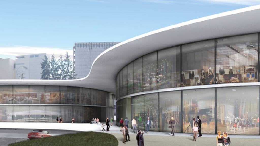 Visualisierung des geplanten «Outlet Edelreich» in Wigoltingen TG. Der Gestaltungsplan des Einkaufszentrums widerspricht den Vorgaben des kantonalen Richtplans, wie das Thurgauer Verwaltungsgericht entschieden hat.